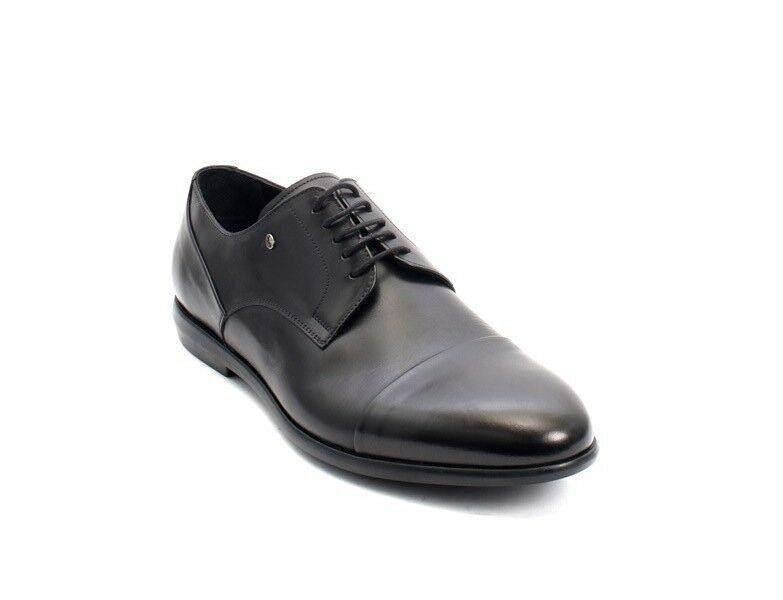 3357405c91eb1 ROBERTO SERPENTINI 45217 Black Leather Lace-Up Dress shoes 44 44 44 US 11  9cc2d0 ...