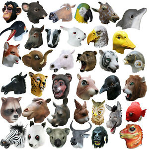 Latex Animal Head Halloween Theatrical Cosplay Photography Play Party Mask