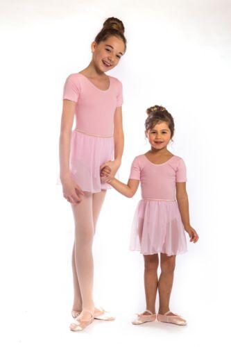 Girls proVora Pink Ballet Skirt Chiffon wrap RAD Ballet Pull on stretch waist