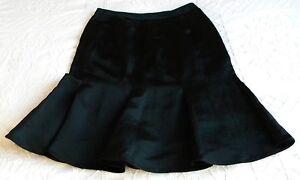 ARMANI-Black-Label-Skirt-Tulip-Godet-Silk-Linen-sz-M-40-Italy-New-Georgio