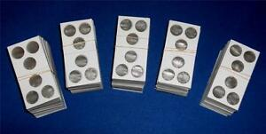 100-3-hole-2X2-Cardboard-Mylar-Coin-Holders-Flips-for-Penny-Cent-Dime