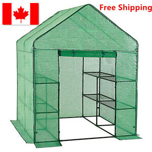 Large Greenhouse w/ 3 Tiers 12 Shelves Stands for Outdoor Herb Flower Plant
