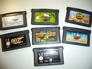 Gamboy-Advance-7-Spiele-Module-Bundle