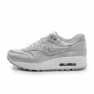 Nike WMNS Air Max 1 Cut Out PRM [644398-001] NSW Running Wolf Grey/White