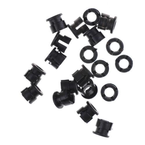 20Pcs 3mm Black Plastic LED Holder Case Clip Display Panel JUV