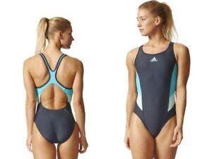 Détails sur BP5743 Adidas Femmes UPF 50+ Infinitex Inspiration Maillot de bain 1PC maillot de bain UK 36 38 afficher le titre d'origine