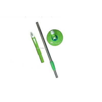 360 degree Magic Mop rotating Rod set steel rod set with dish ,best mop Green