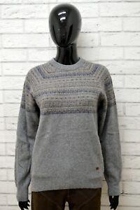 Maglione-Donna-ELLESSE-Taglia-L-Felpa-Pullover-Sweater-Woman-Lana-Grigio-Vintage
