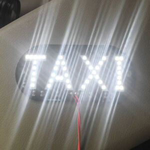 Car-White-12V-45-LED-Cab-Roof-Taxi-Sign-Light-Vehicle-Inside-Windscreen-Lamp