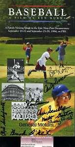 Vin-Scully-Jsa-Coa-Signed-By-8-Ken-Burns-Baseball-Booklet-Autograph