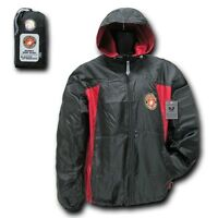 Black & Red Us Marines Usmc Marine Corps Windbreaker Jacket Coat M L Xl 2xl