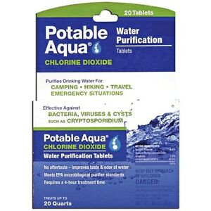 200 Potable Aqua Emergency Military Water Iodine Purification Pills Tablets