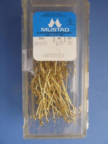 Mustad #3260B Aberdeen Crochets Lot de 2 paquets de 100 Total Crochets 1//0 NEUF