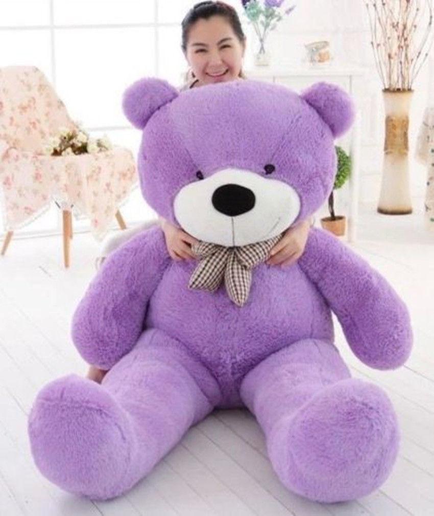 Big Cute viola Teddy Bear Plush 63'' Animal Stuffed Soft Toy Birthday Kid Gifts