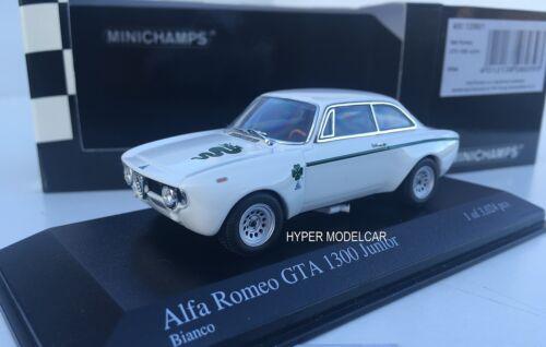400120600 MINICHAMPS 1//43 Alfa Romeo GTA 1300 Junior 1972 White Art