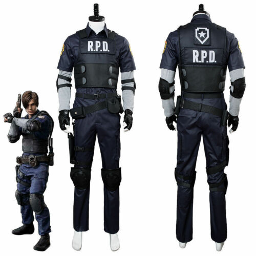 Resident Evil 2 Remake Biohazard Re:2 Leon Scott Kennedy Cosplay Police Costume