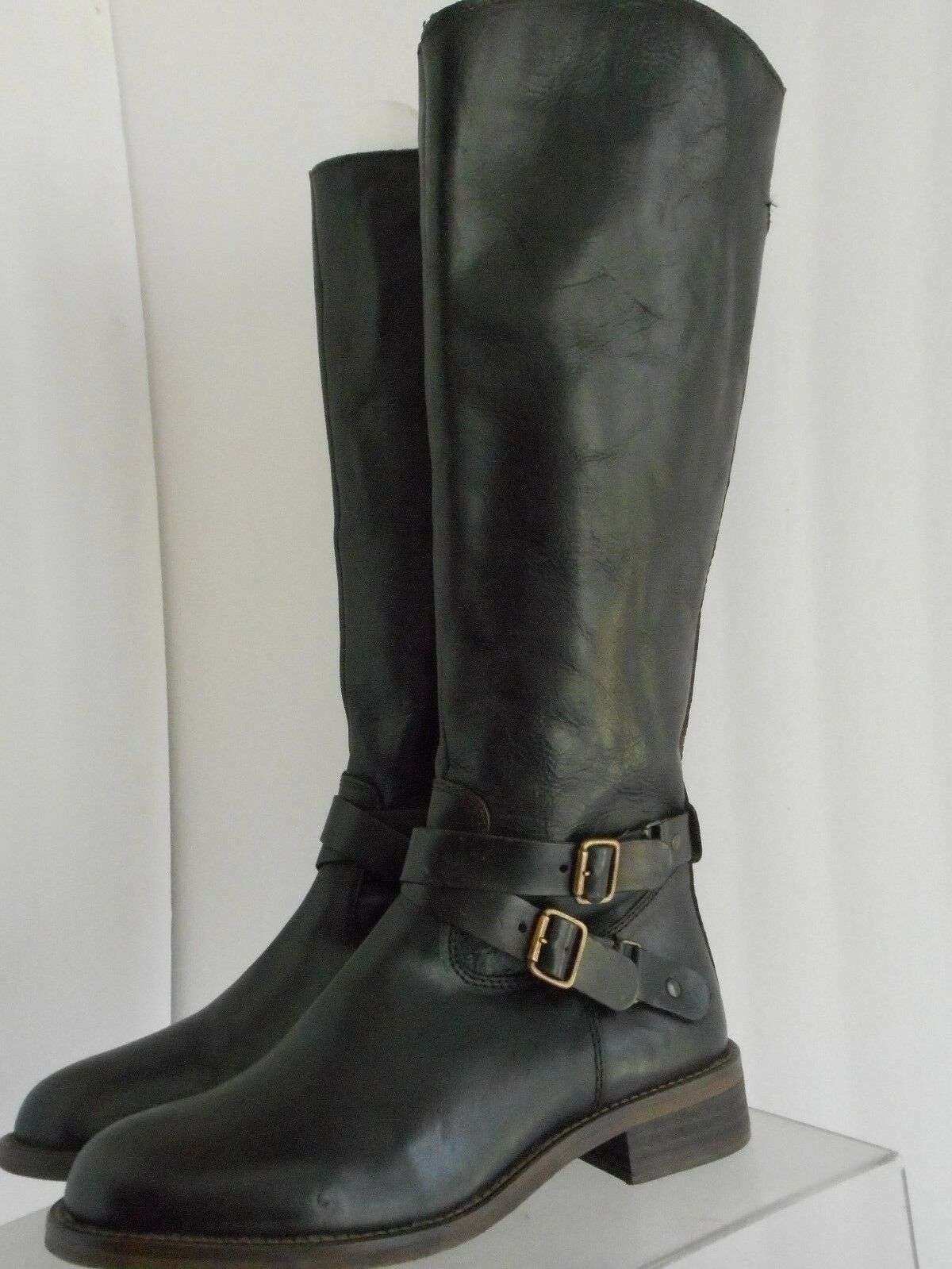 Hinge Devin Boots Riding Equestrian Leather Knee High US 6.5 M 140