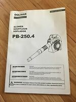 Dolmar Blower Pb-250.4 Owners Manual