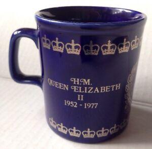 SELECTION OF HM QUEEN ELIZABETH II SILVER JUBILEE MUGS 1977