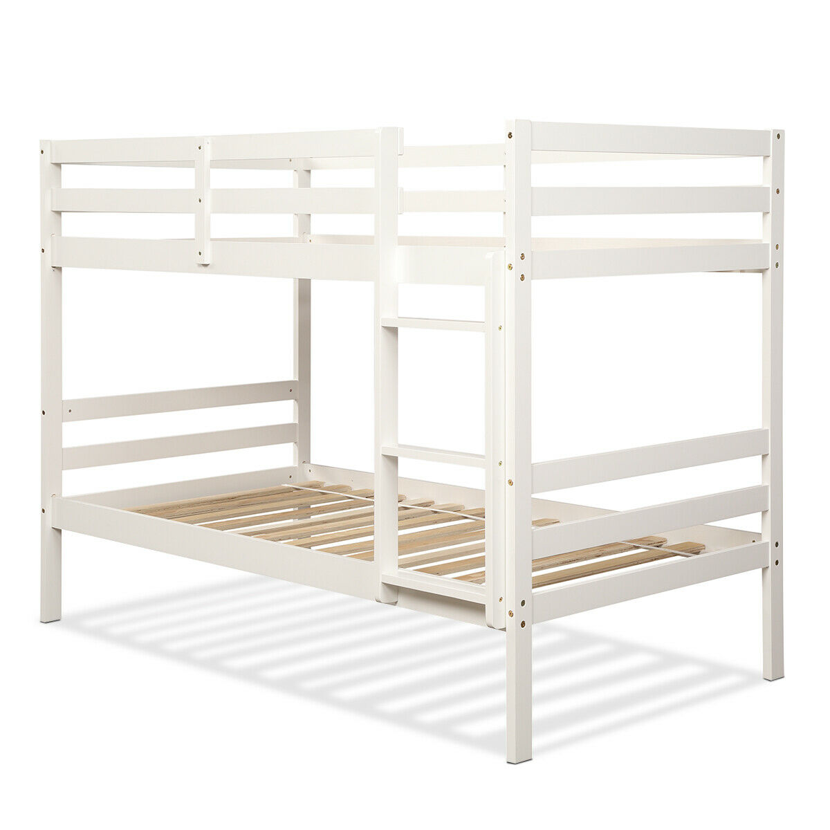 Wooden Bunk Beds With Ladder Marcuscable Com