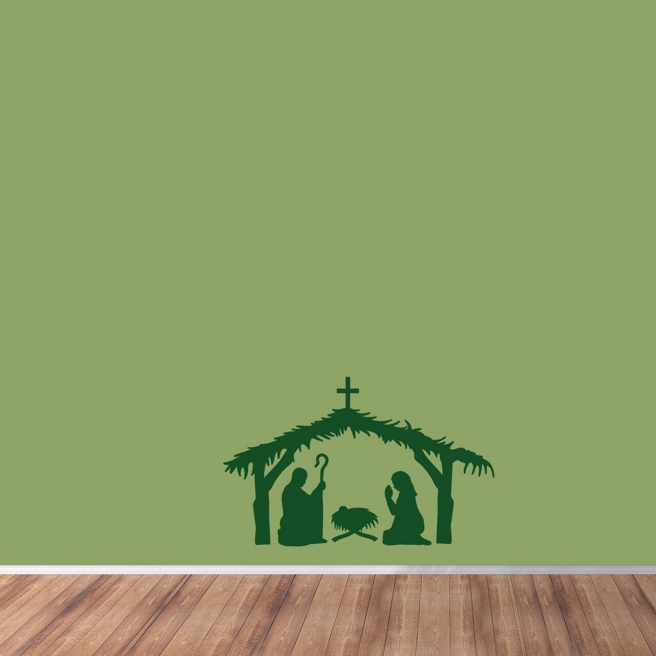 Nativity Scene Wall Decal - Christmas, Seasonal, Winter, Holiday, Spiritual