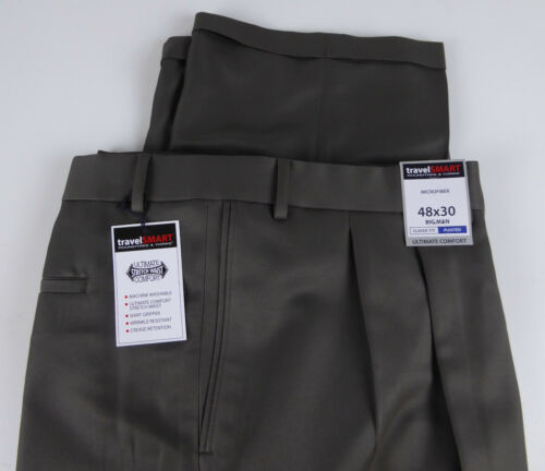 Roundtree /& Yorke Travel Smart Ultimate Comfort Stretch NWT Pleated Dress Pants