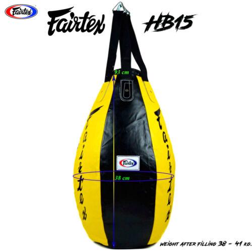 FAIRTEX MUAY THAI BOXING HEAVY BAG UNFILLED K1 MMA PUNCHING STAND UPPERCUT