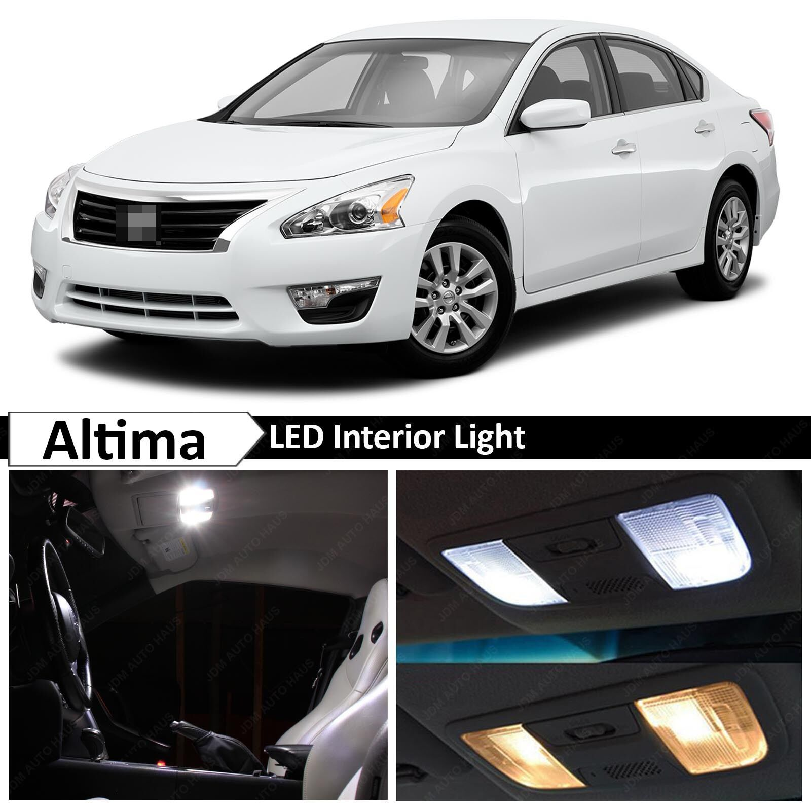 11x white led lights interior package kit for 2013 2015 altima tool ebay 2015 nissan altima interior lights