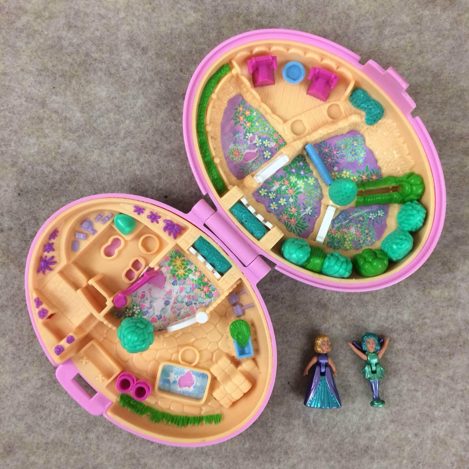 Vintage Blaubird Polly Pocket 1995 Palomino Pony Stables Vtg Toy With 2 Dolls