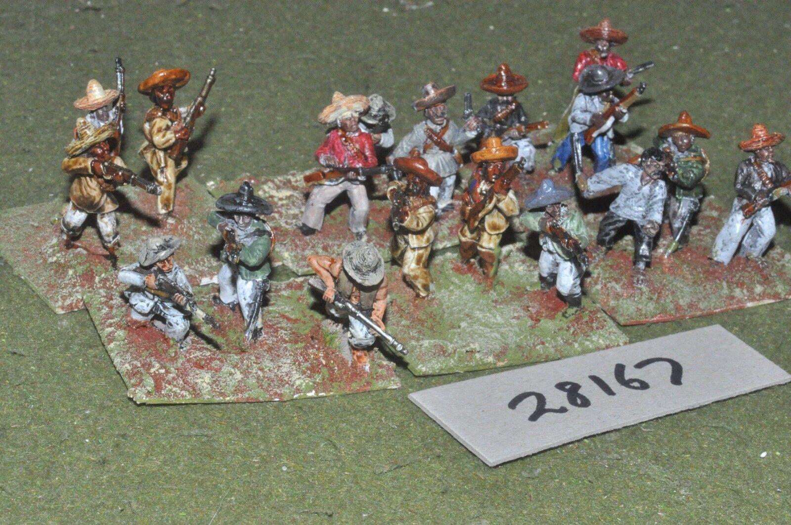 25mm colonial   mexican - maximillian adventure militia 18 figures - inf (28167)