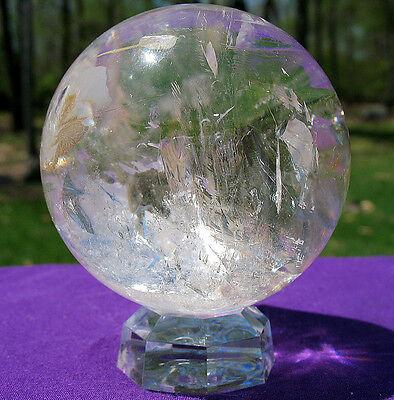 Radiant Quartz Sphere / Crystal Ball w Rainbow