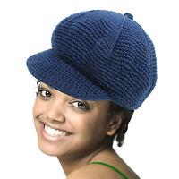 Cabbie Newsboy Blue Cotton Hat Cap One Size Fit Cabbie Newsboy Cotton 1sz Fit