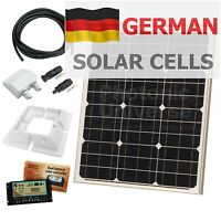 40W 12V dual battery solar panel charging kit motorhome caravan rv boat 40 watt
