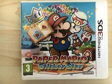 JEU NINTENDO 3DS @@ DS LITE DSI XL 3DS @@ PAPER MARIO STICKER STAR