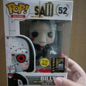 Saw-Billy-Funko-POP-52-Action-figure-da-collezione-modello-luminoso-giocattolo-VERSIONE-UK