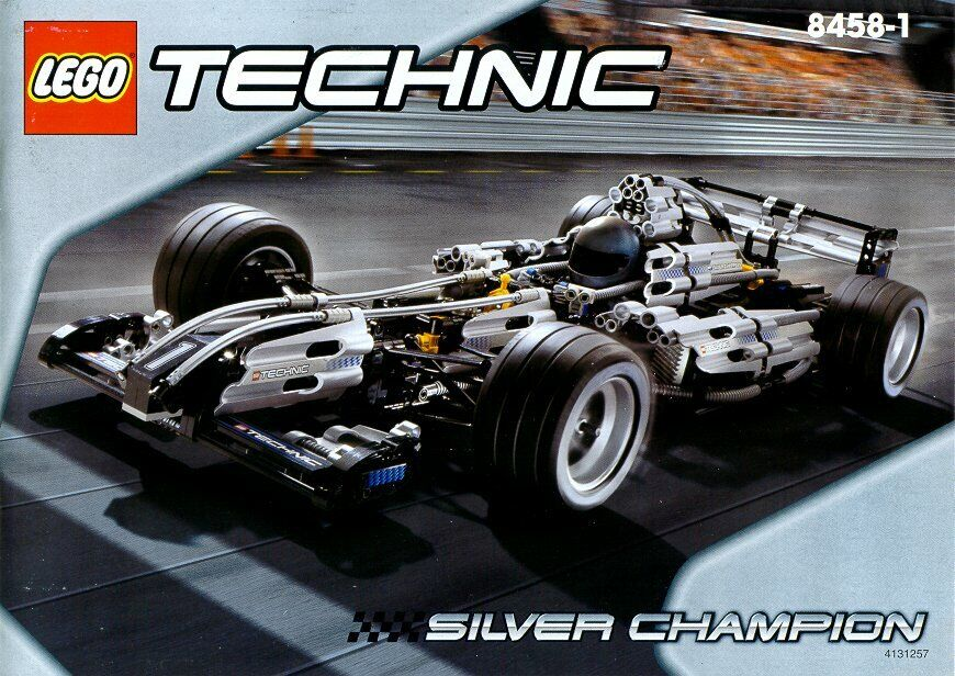 LEGO Technic 8458 Silber Champion Massstab 1 8 -  zusammengebaut ohne Aufkleber