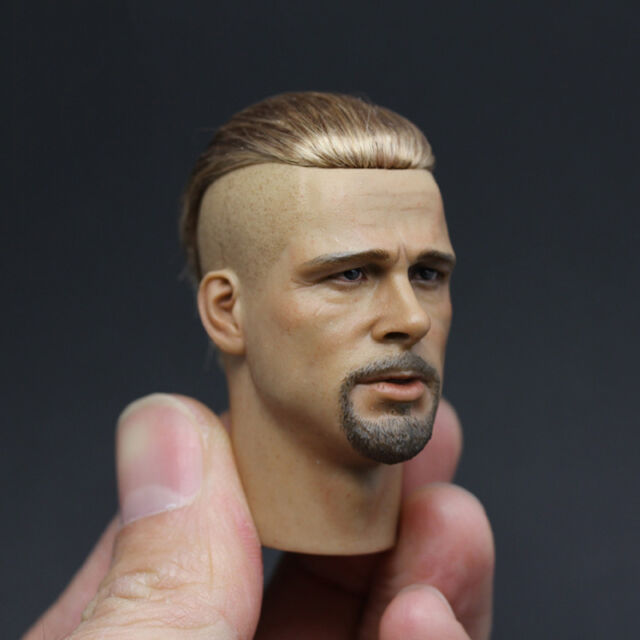 NEW 1//6 Fury Brad Pitt HEADPLAY blond Small cloth head carvin actor star