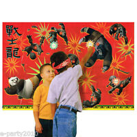 Kung Fu Panda 2 Party Game Poster Birthday Supplies Plastic Decorations Group