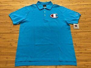 Champion Chenille Polo Shirt Big C Logo Men/'s Large