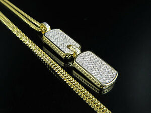 Yellow gold finish iced out lab diamond dog tag pendant miami cuban image is loading yellow gold finish iced out lab diamond dog mozeypictures Images
