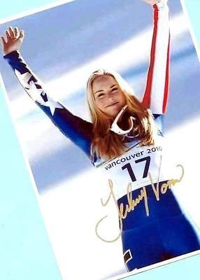 Lindsey Vonn-top Autografo Immagine (18) Print Ihrem + Orig. Ak Di Un Ski-stars-