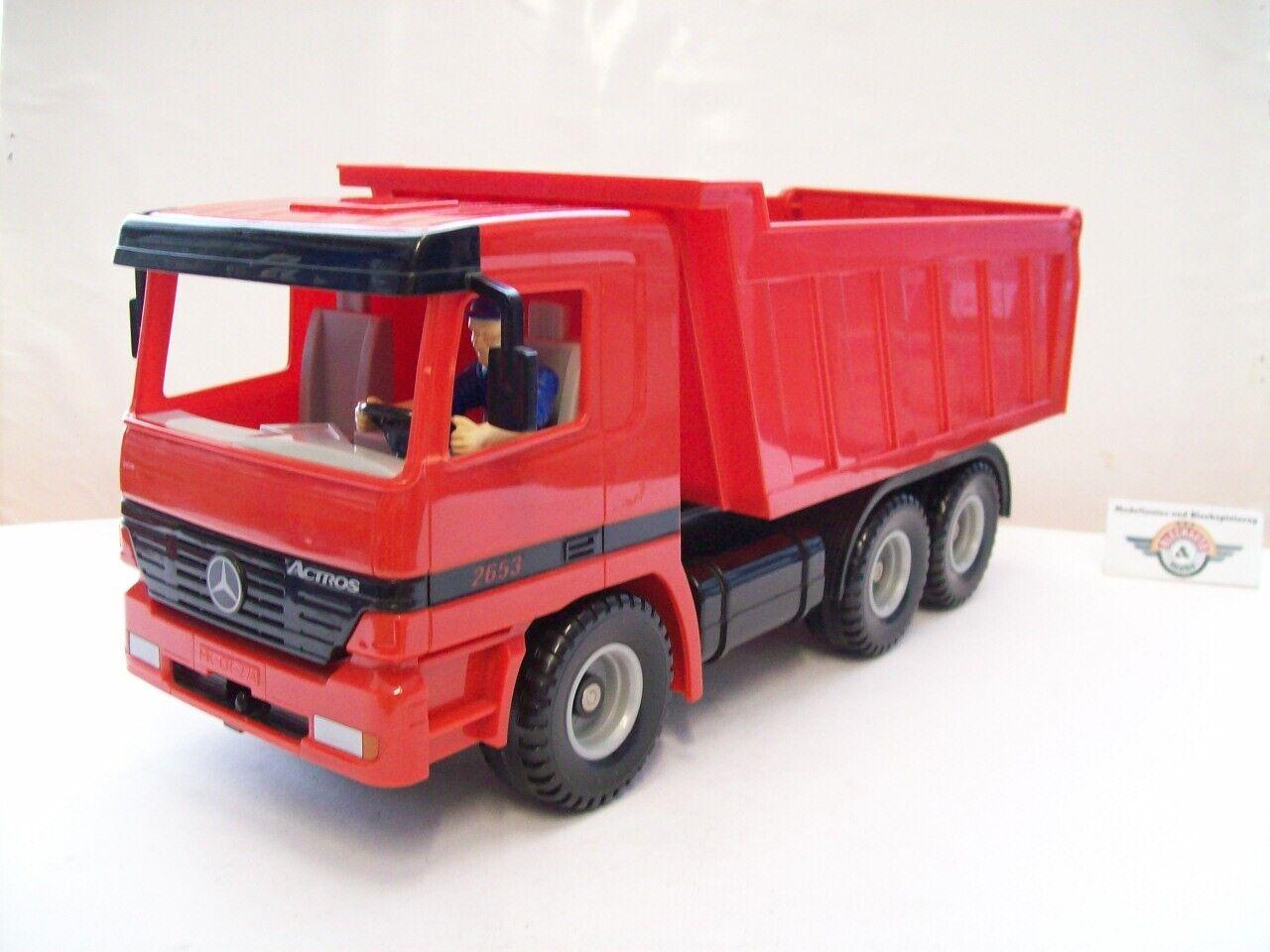 Siku 6618, Mercedes-Benz Actros 2653 2653 2653 Muldenkipper, 1999, red, Siku 1 20 374120
