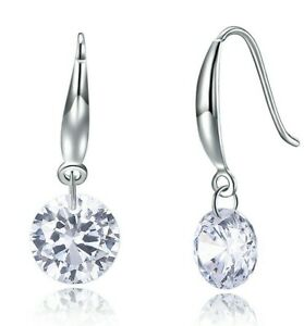 Naked-Drill-Drop-Earring-made-with-Swarovski-Crystal-in-18K-White-Gold-ITALY