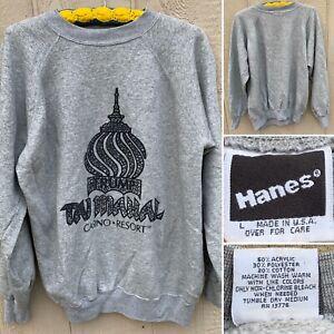 Vintage-Trump-Taj-Mahal-CASINO-RESORT-Graphic-Sweatshirt-L-Made-In-USA