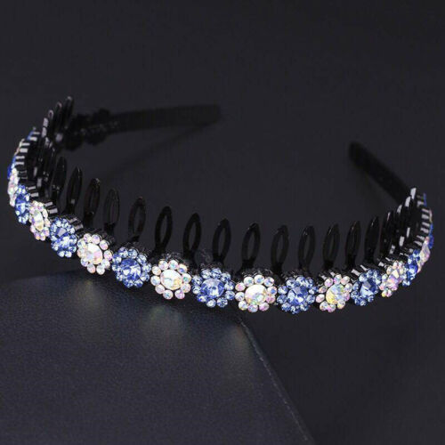 Fashion Girl Crystal Flower WIith Teeth Headband Hairband Hair Band Headwear