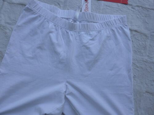 Sheego Hose Leggings Gr 301 46 bis 54 weiß mit Spitze NEU