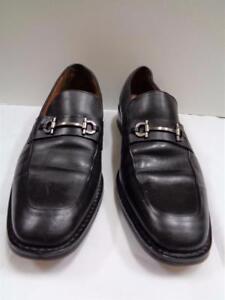 8461517b260 COLE HAAN black leather silver tone horsebit buckle slip on loafers ...