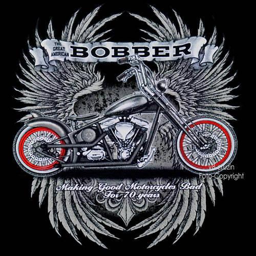 BOBBER Moto MOTARD harley-chopper-motif T-Shirt Moto BOBBER 4219 LS bd524a