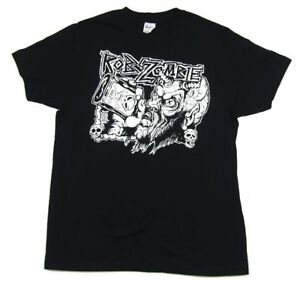 Rob-Zombie-Bottle-Demon-Drinking-Black-T-Shirt-New-Official-Merch