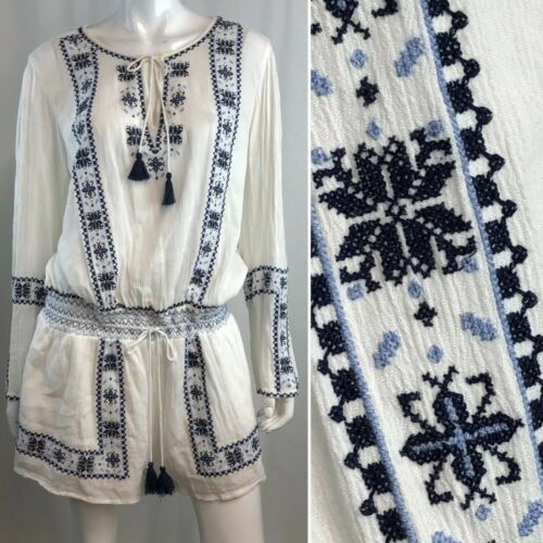 $229 Ralph Lauren Women's Large White Embroidered